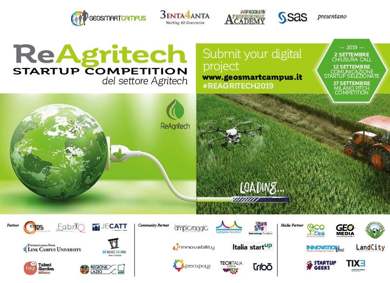 ReAgritech Startup Competition: al via la call